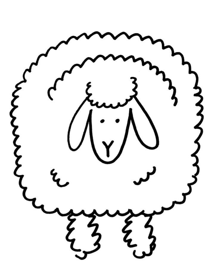 Sheep Flock Drawing a Good Shepherd With 100 Sheep