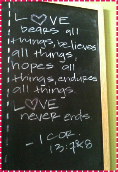 love hopes all things