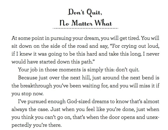 holley gerth quote - don't give up