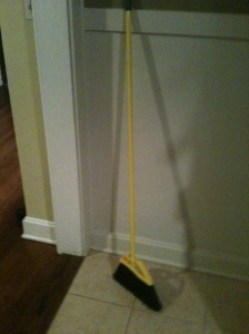 The broom we have . . . for spring cleaning, I guess?