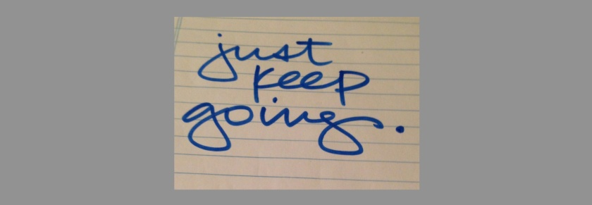 just keep going featured