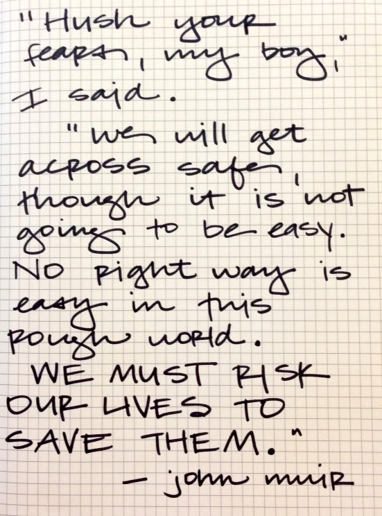 risk our lives