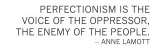 on perfectionism. (days 5 & 6 of #31days)